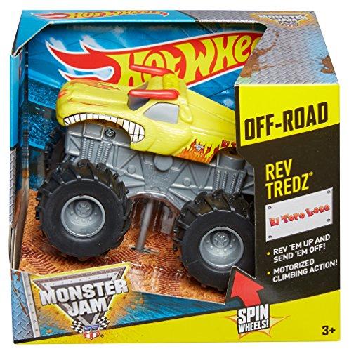 ホットウィール マテル ミニカー ホットウイール 【送料無料】Hot Wheels Monster Jam Rev Tredz El Toro Loco Truck, Yellowホットウィール マテル ミニカー ホットウイール