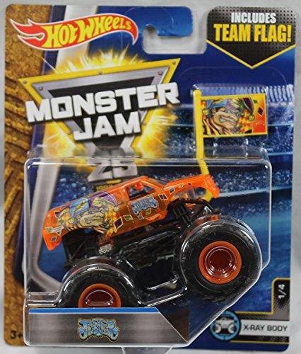 ホットウィール マテル ミニカー ホットウイール 【送料無料】2017 Hot Wheels Monster Jam 1:64 Scale Truck with Team Flag - Jesterホットウィール マテル ミニカー ホットウイール