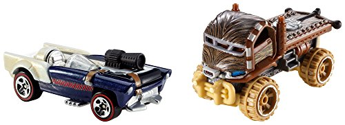 ホットウィール マテル ミニカー ホットウイール 【送料無料】Hot Wheels Star Wars Chewbacca and Han Solo Character Car (2-Pack)ホットウィール マテル ミニカー ホットウイール