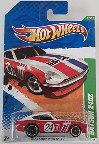 ホットウィール マテル ミニカー ホットウイール 【送料無料】Hot Wheels Treasure Hunt 2011 ''Datsun 240Z Treasure Hunt '11 - 12 of 15 - 62/244 Red & White with #24 Racecar Decal on Door & Datsun in Bolホットウィール マテル ミニカー ホットウイール