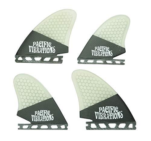 サーフィン フィン マリンスポーツ 【送料無料】PACIFIC VIBRATIONS Futures Carbon Quad KEEL Fins Surfboard 4 fin Set Fiberglass Honeycombサーフィン フィン マリンスポーツ