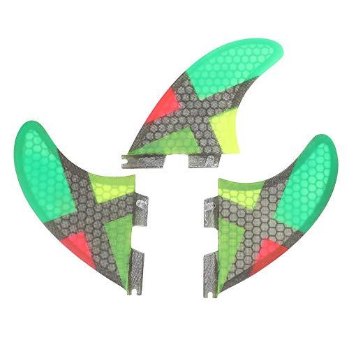 サーフィン フィン マリンスポーツ 【送料無料】Alomejor 3PCS Surfing Fins FCS Base Fiberglass G7 Size Surfboard Thrusters Surfboard Tail Fin for Paddle Board(Fins)サーフィン フィン マリンスポーツ