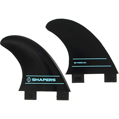 サーフィン フィン マリンスポーツ 【送料無料】Shapers Fins Fibre Flex S2 Black FCS Side Bite -Set of 2 Finsサーフィン フィン マリンスポーツ