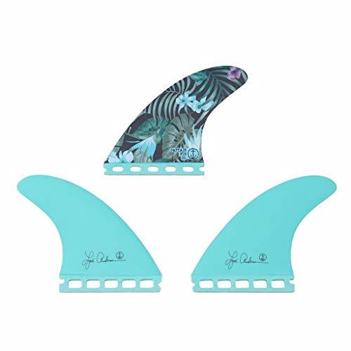 サーフィン フィン マリンスポーツ 【送料無料】Captain Fin Co. | Lisa Andersen Jungle Surfboard Fins | (Single TAB) Thruster Set | Sea Foam Greenサーフィン フィン マリンスポーツ