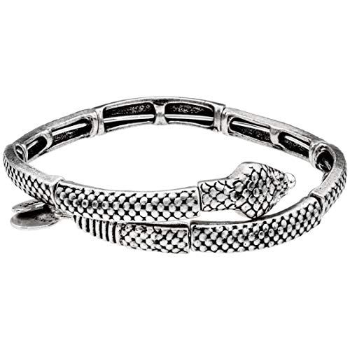 アレックスアンドアニ アメリカ アクセサリー ブランド かわいい 【送料無料】Alex and Ani Snake Wrap Silver One Size Bracelet V16W32RSアレックスアンドアニ アメリカ アクセサリー ブランド かわいい