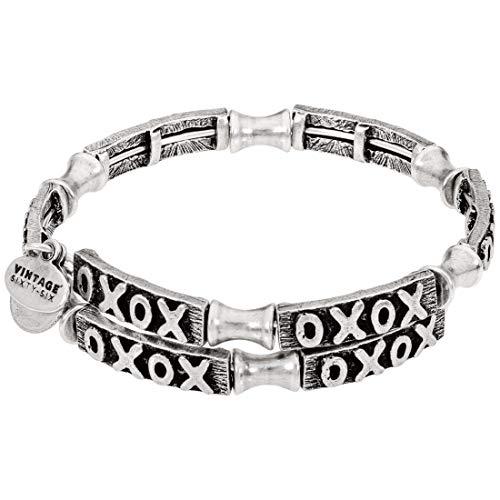 アレックスアンドアニ アメリカ アクセサリー ブランド かわいい 【送料無料】Alex and Ani XO Wrap Silver One Size Bracelet V18W02RSアレックスアンドアニ アメリカ アクセサリー ブランド かわいい