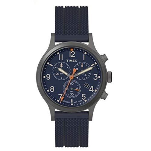 タイメックス 腕時計 メンズ 【送料無料】Timex Allied Chrono Silicone Blue/Blue One Sizeタイメックス 腕時計 メンズ