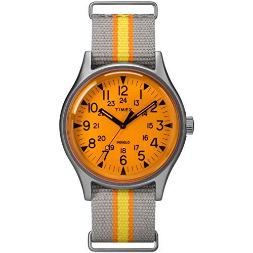 タイメックス 腕時計 メンズ 【送料無料】Timex MK1 Aluminum California Orange Dial Canvas Strap Men's Watch TW2T25500タイメックス 腕時計 メンズ