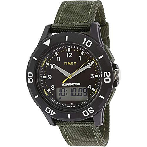 腕時計 タイメックス メンズ 【送料無料】Timex Men's Expedition Katmai Combo TW4B16600 Black Nylon Quartz Sport Watch腕時計 タイメックス メンズ