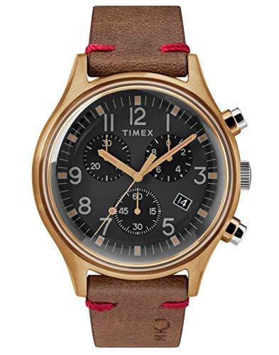 腕時計 タイメックス メンズ 【送料無料】Timex Mens Chronograph Quartz Watch with Leather Strap TW2R96300腕時計 タイメックス メンズ