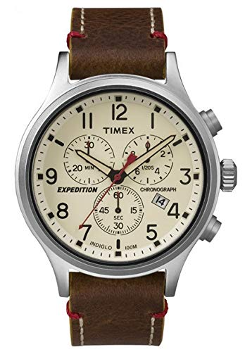タイメックス 腕時計 メンズ 【送料無料】Timex Expeditoin TW4B04300 Scout Chrono Men Watch, Brown/Naturalタイメックス 腕時計 メンズ