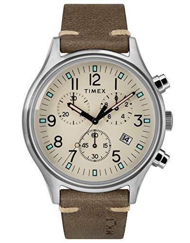 タイメックス 腕時計 メンズ 【送料無料】Timex Mens Chronograph Quartz Watch with Leather Strap TW2R96400タイメックス 腕時計 メンズ