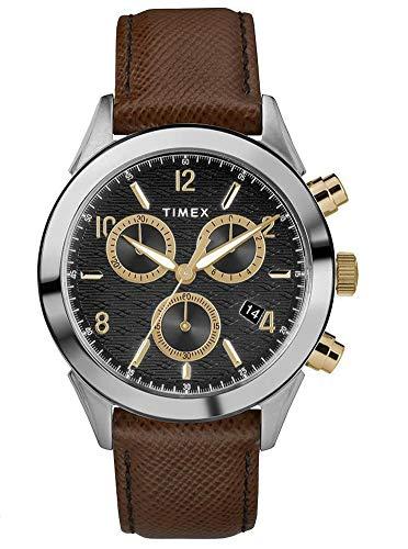 タイメックス 腕時計 メンズ 【送料無料】Timex Mens Chronograph Quartz Watch with Leather Strap TW2R90800タイメックス 腕時計 メンズ