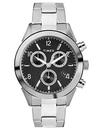 タイメックス 腕時計 メンズ 【送料無料】Timex Mens Chronograph Quartz Watch with Stainless Steel Strap TW2R91000タイメックス 腕時計 メンズ