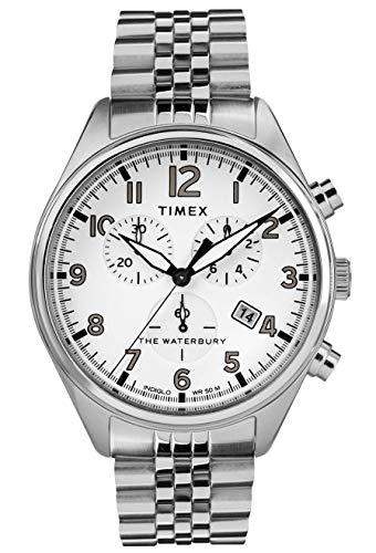 腕時計 タイメックス メンズ 【送料無料】Timex Mens Chronograph Quartz Watch with Stainless Steel Strap TW2R88500腕時計 タイメックス メンズ