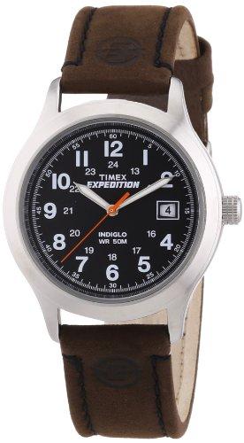 タイメックス 腕時計 メンズ 【送料無料】Timex Expedition Metal Field Black Dial Brown Leather Strap Mens Watch T49954タイメックス 腕時計 メンズ