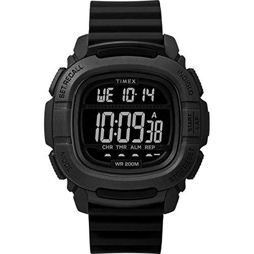 タイメックス 腕時計 レディース 【送料無料】Timex BST.47 47mm Silicone Strap Watch - Black - TW5M26100タイメックス 腕時計 レディース