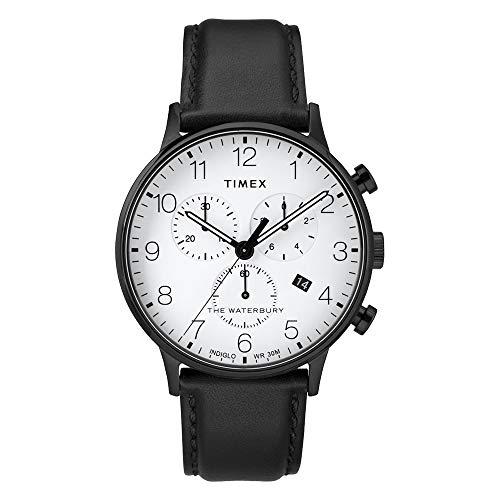 タイメックス 腕時計 レディース 【送料無料】Timex Waterbury Classic Chrono Leather Black/White One Sizeタイメックス 腕時計 レディース