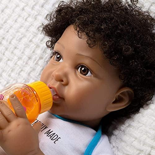パラダイスギャラリーズ 赤ちゃん リアル 本物そっくり おままごと 【送料無料】Paradise Galleries African American Black Reborn Baby Boy Doll, Wonderfully Made, 20 inches, Weighted Bodyパラダイスギャラリーズ 赤ちゃん リアル 本物そっくり おままごと
