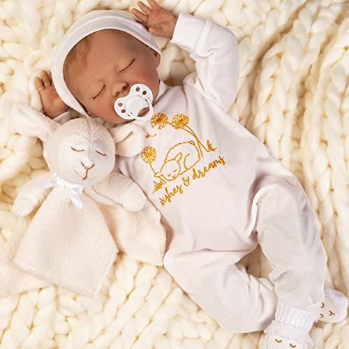 パラダイスギャラリーズ 赤ちゃん リアル 本物そっくり おままごと 【送料無料】Paradise Galleries Newborn Reborn Baby Doll with Magnetic Pacifier, Wishes and Dreams, 21 inch Sleeping Neパラダイスギャラリーズ 赤ちゃん リアル 本物そっくり おままごと