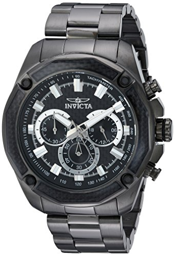 インヴィクタ インビクタ 腕時計 メンズ 【送料無料】Invicta Men's Aviator Quartz Watch with Stainless-Steel Strap, Black, 10 (Model: 22807)インヴィクタ インビクタ 腕時計 メンズ