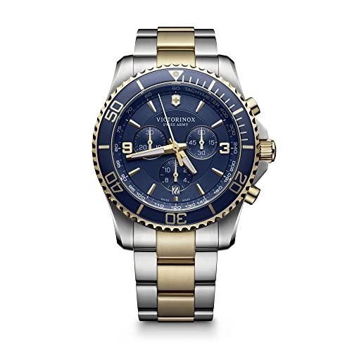 ビクトリノックス スイス 腕時計 メンズ 【送料無料】Victorinox Men's Maverick Swiss-Quartz Watch with Two-Tone-Stainless-Steel Strap, 22 (Model: 241791)ビクトリノックス スイス 腕時計 メンズ