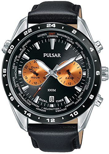 パルサー SEIKO セイコー 腕時計 メンズ 【送料無料】Pulsar Active Mens Analog Quartz Watch with Leather Bracelet PY7015X1パルサー SEIKO セイコー 腕時計 メンズ
