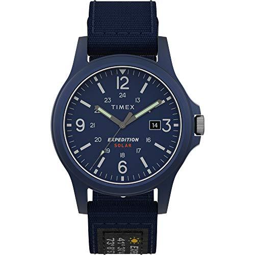 腕時計 タイメックス メンズ 【送料無料】Timex Men's TW4B18900 Expedition Acadia Solar 40mm Blue Fabric Strap Watch腕時計 タイメックス メンズ