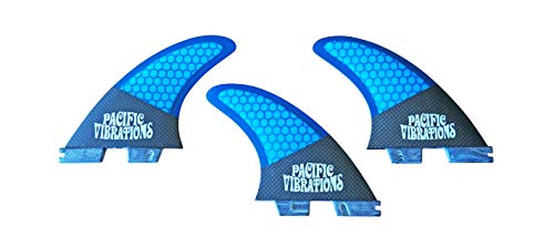 サーフィン フィン マリンスポーツ 【送料無料】PACIFIC VIBRATIONS Surfboard fins AM1 (Al Merrick Channel Islands) Template Medium Size FCS II, FCS 2, fcsII, fcs2, Base Carbon Fiber Wrapped Base Honeycomb core TRI,サーフィン フィン マリンスポーツ
