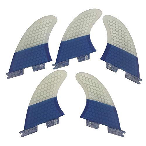 サーフィン フィン マリンスポーツ 【送料無料】UPSURF FCS II Surfboard Blue Fin K2.1 Size Fiberglass+Honeycomb Tri-Quad Fin Set (A-Blue K2.1)サーフィン フィン マリンスポーツ