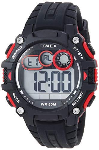 タイメックス 腕時計 メンズ 【送料無料】Timex Men's TW5M27000 DGTL Big Digit 48mm Black/Gray/Red Silicone Strap Watchタイメックス 腕時計 メンズ