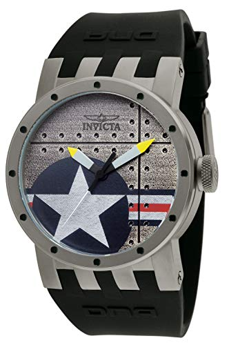腕時計 インヴィクタ インビクタ メンズ 【送料無料】Invicta Men's 11647 DNA Bomber Silver Dial Black Silicone Watch腕時計 インヴィクタ インビクタ メンズ
