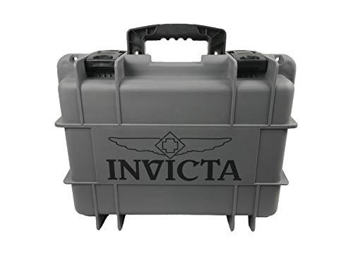インヴィクタ インビクタ 腕時計 メンズ 【送料無料】Invicta DC8CHCL- 8 Slot Grey Plastic Watch Box Caseインヴィクタ インビクタ 腕時計 メンズ
