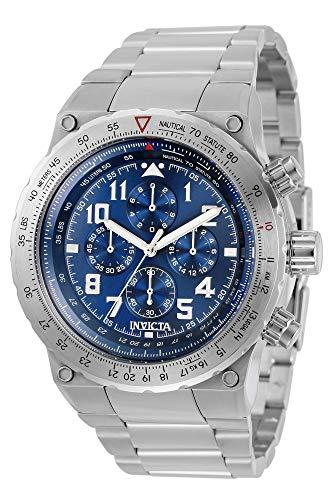 インヴィクタ インビクタ 腕時計 メンズ 【送料無料】Invicta Aviator Chronograph Quartz Blue Dial Men's Watch 31586インヴィクタ インビクタ 腕時計 メンズ