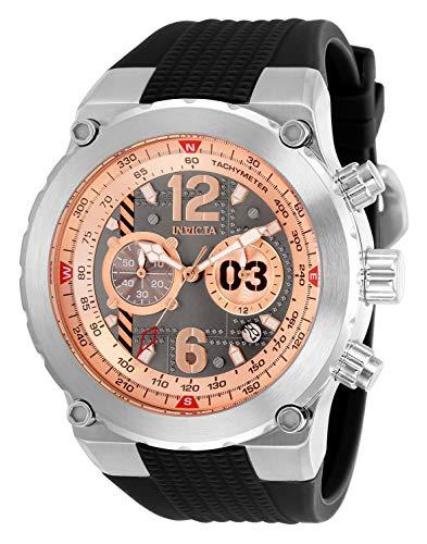 腕時計 インヴィクタ インビクタ メンズ 【送料無料】Invicta Men's Aviator Stainless Steel Quartz Watch with Silicone Strap, Black, 32 (Model: 31580)腕時計 インヴィクタ インビクタ メンズ