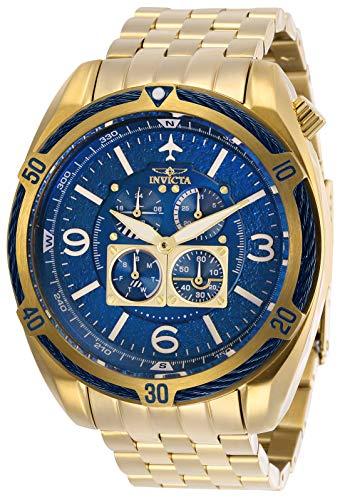 インヴィクタ インビクタ 腕時計 メンズ 【送料無料】Invicta Men's Aviator Quartz Watch with Stainless Steel Strap, Gold, 24 (Model: 28089)インヴィクタ インビクタ 腕時計 メンズ