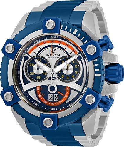 インヴィクタ インビクタ 腕時計 メンズ 【送料無料】INVICTA 31416 Men's 63mm Reserve Grand Arsenal Swiss Chronograph Silver & Blue Two Tone Stainless Steel Bracelet Watchインヴィクタ インビクタ 腕時計 メンズ