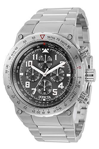 インヴィクタ インビクタ 腕時計 メンズ 【送料無料】Invicta Aviator Chronograph Quartz Grey Dial Men's Watch 31585インヴィクタ インビクタ 腕時計 メンズ