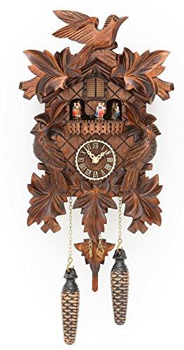 カッコー時計 インテリア 壁掛け時計 海外モデル アメリカ 【送料無料】Trenkle Quartz Cuckoo Clock with Music 7 Leaves, 3 Birds TU 377 QMTカッコー時計 インテリア 壁掛け時計 海外モデル アメリカ
