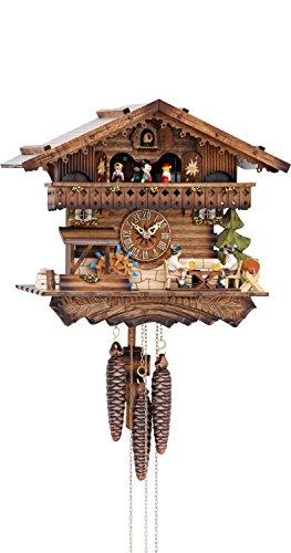 カッコー時計 インテリア 壁掛け時計 海外モデル アメリカ 【送料無料】German Cuckoo Clock 1-day-movement Chalet-Style 12.00 inch - Authentic black forest cuckoo clock by Hekasカッコー時計 インテリア 壁掛け時計 海外モデル アメリカ