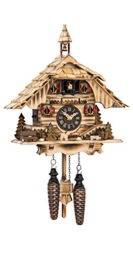 カッコー時計 インテリア 壁掛け時計 海外モデル アメリカ 【送料無料】Engstler Quartz Cuckoo Clock Black Forest House with Musicカッコー時計 インテリア 壁掛け時計 海外モデル アメリカ