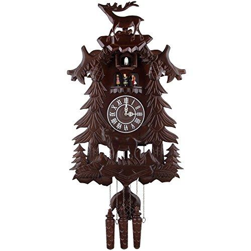 カッコー時計 インテリア 壁掛け時計 海外モデル アメリカ 【送料無料】Kendal Vivid Large Deer Handcrafted Wood Cuckoo Clock with 4 Dancers Dancing with Musicカッコー時計 インテリア 壁掛け時計 海外モデル アメリカ