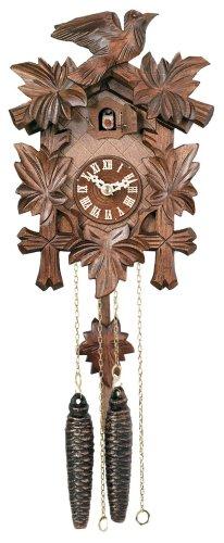 カッコー時計 インテリア 壁掛け時計 海外モデル アメリカ 【送料無料】River City Clocks One Day Hand-Carved Cuckoo Clock with Five Maple Leaves & One Bird - 9 Inches Tall - Model # 11-09カッコー時計 インテリア 壁掛け時計 海外モデル アメリカ