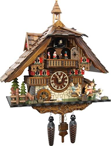 カッコー時計 インテリア 壁掛け時計 海外モデル アメリカ 【送料無料】Cuckoo-Palace Large German Cuckoo Clock - The Seesaw Mill Chalet with Quartz Movement ? with Moving Seesaw - Black Forestカッコー時計 インテリア 壁掛け時計 海外モデル アメリカ