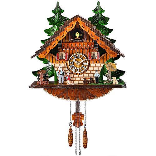 カッコー時計 インテリア 壁掛け時計 海外モデル アメリカ 【送料無料】Kintrot Cuckoo Clock Traditional Chalet Black Forest House Clock Handcrafted Wooden Wall Pendulum Quartz Clockカッコー時計 インテリア 壁掛け時計 海外モデル アメリカ