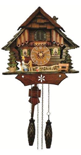 カッコー時計 インテリア 壁掛け時計 海外モデル アメリカ 【送料無料】Anton Schneider Quartz Cuckoo Clock Little Black Forest House, with Musicカッコー時計 インテリア 壁掛け時計 海外モデル アメリカ