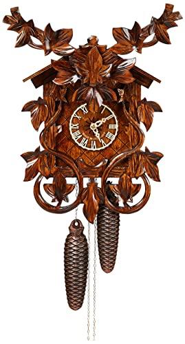 カッコー時計 インテリア 壁掛け時計 海外モデル アメリカ 【送料無料】River City Clocks Eight Day Cuckoo Clock with Hand, Carved Vines and Leavesカッコー時計 インテリア 壁掛け時計 海外モデル アメリカ