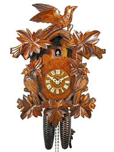 カッコー時計 インテリア 壁掛け時計 海外モデル アメリカ 【送料無料】Original German Cuckoo-Clock (Certified), Mechanical 8-Day Movement with 3 Birds and 7 Leaves, coo-coo Clocks from The Blaカッコー時計 インテリア 壁掛け時計 海外モデル アメリカ