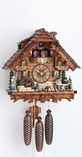 カッコー時計 インテリア 壁掛け時計 海外モデル アメリカ 【送料無料】German Cuckoo Clock 8-day-movement Chalet-Style 15.00 inch - Authentic black forest cuckoo clock by Hekasカッコー時計 インテリア 壁掛け時計 海外モデル アメリカ