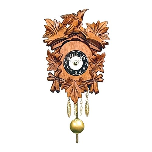 カッコー時計 インテリア 壁掛け時計 海外モデル アメリカ 【送料無料】Alexander Taron 0125-1QP Engstler Battery-Operated Clock - Mini Size with Music/Chimes - 5.5